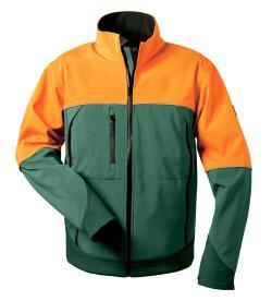 Skogsarbetsjacka - 100% polyester - andas - orange/grön
