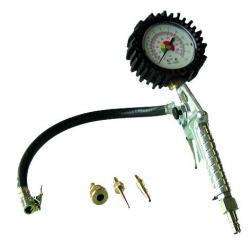 Reifenfüller - mit Manometer - Adapterset