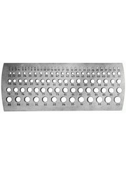 """Millimeter-Lochlehre - Sthal - Messbereich 0,1 bis 10mm - Steigung 0,1mm - """"FORU"""