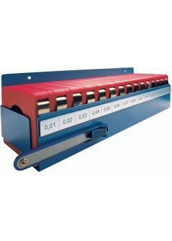 Tolkstål - stål - tjocklek 0,01-0,25 mm - i verkstadsbox