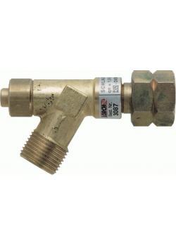 Raccord de sécurité pour tuyau flexible – pour gaz liquides – entrée