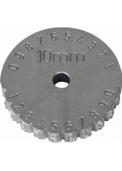 """Schlagradstempel - Zahl - Schrifthöhe 2-6mm - """"TURNUS"""""""
