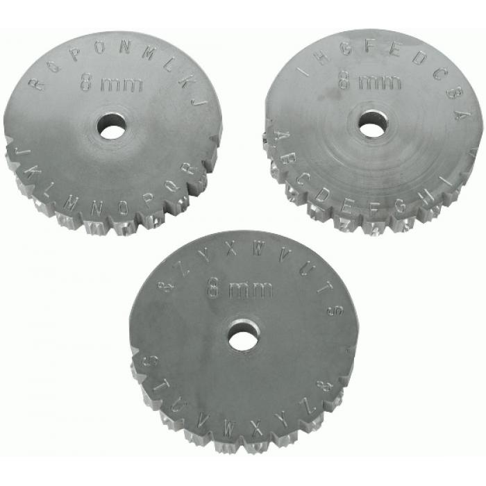 """Schlagradstempel - Buchstaben - SH 2-6mm - 3 Räder - """"TURNUS"""""""