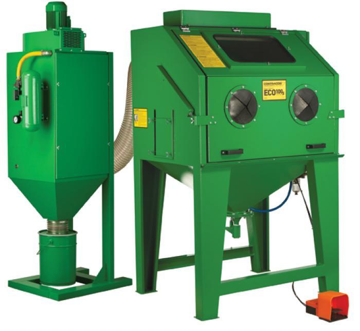 Cabine di aspirazione sabbiatura eco 100sl speciale 950x720x760 mm con separatore polvere for Rivestimento parete interna