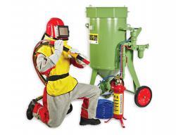 Strahlpack Comfort 100 – Sandstrahlgerät BlastRazor Z-100RC – Strahlanzug Safe PackComfort Größe 54