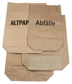 Müllsack aus Kraftpapier - 2-lagig - 120 Liter - mit/ohne Aufdruck