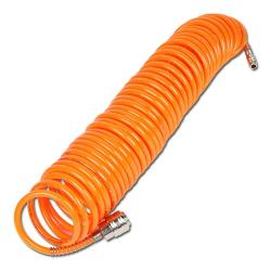 Compressed air spiral hose - 10 m - connection 1/4""
