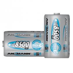 Laddningsbara batterier - 4 st - Batteri Mono D - Kapacitet 8500 mAh