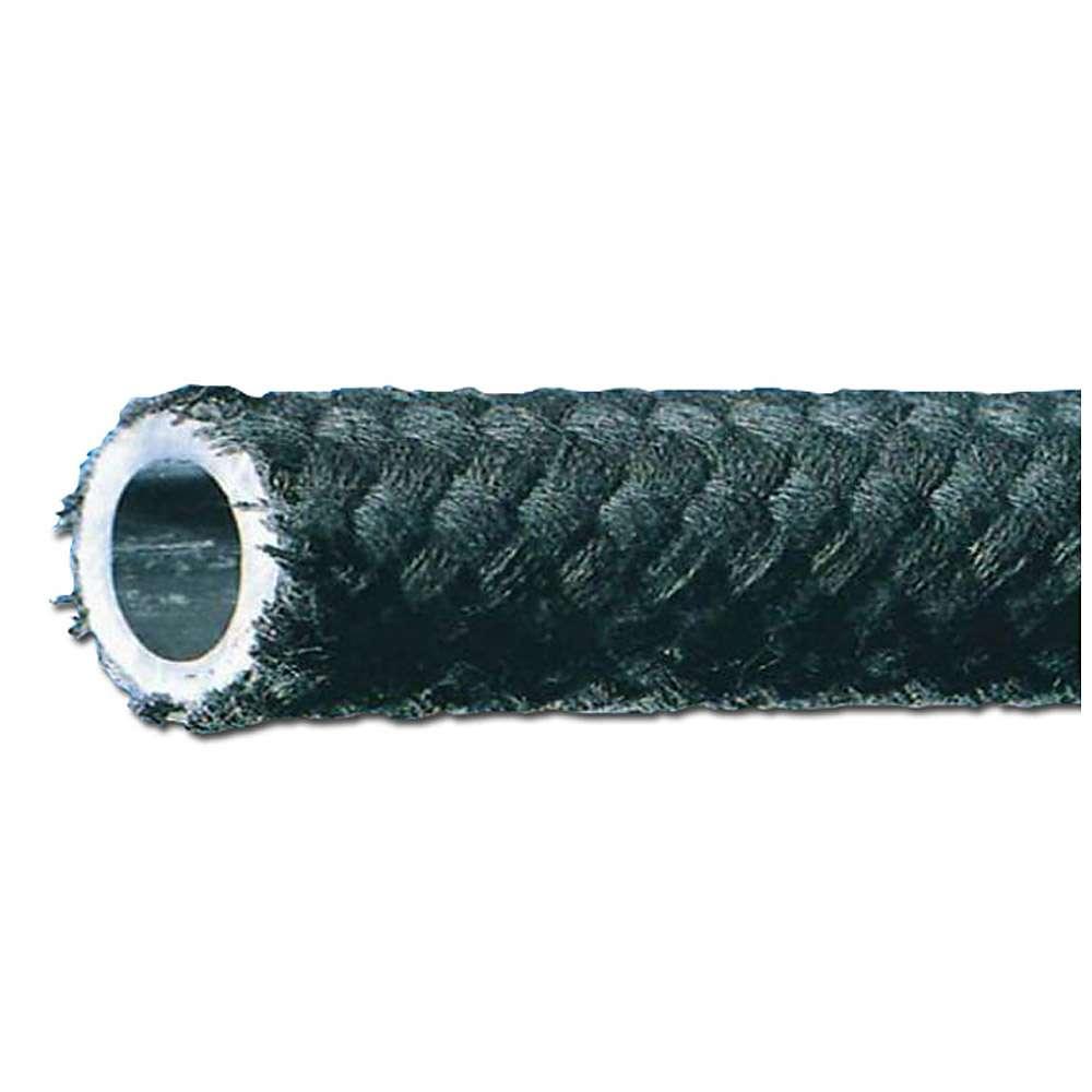 Kraftstoffschlauch NBR - mit Schutzumflechtung - Innen-Ø 3,2 bis 12 mm - Außen-Ø 7 bis 18 mm - 20 m - Preis per Rolle