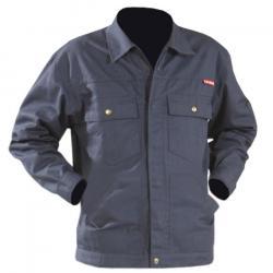 Arbetsjacka - stl. 60 - EN 26330 - grå - 65% polyester, 35% bomull