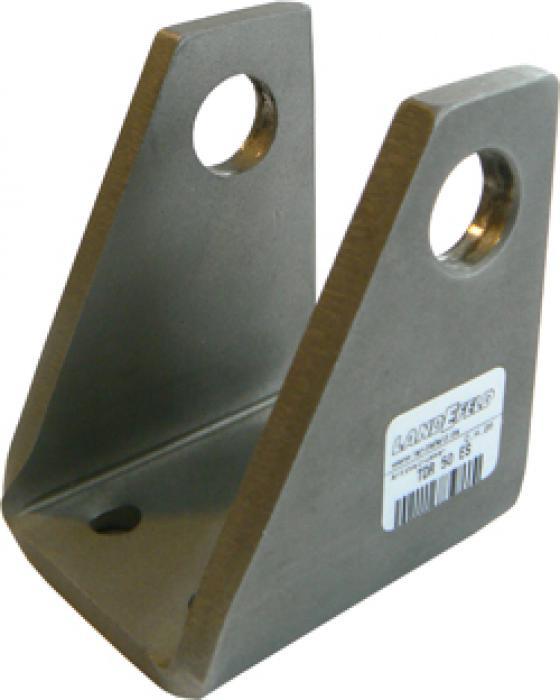 Svängfäste 90°, gaffel - rostfritt stål 1.4401 - för cylinder ISO 6431