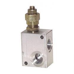 Soupape de limitation de pression - à commande directe - 30 l/min - Aluminium