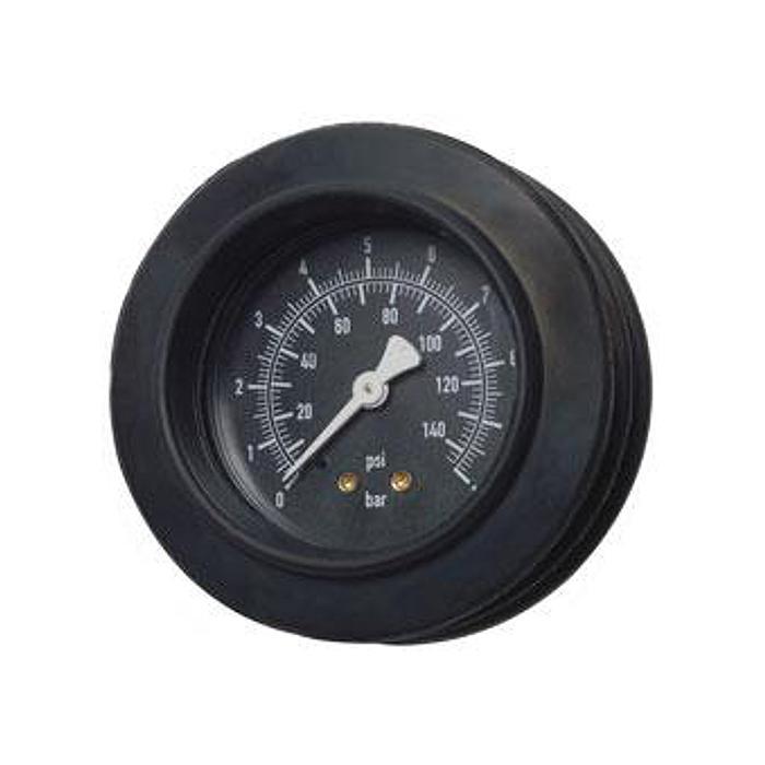 Rohrfedermanometer - stossgesichtert - Ø 80mm - Klasse 1,0 - Anzeige in bar/psi