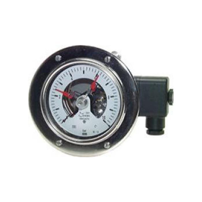 Kontaktmanometer - Ø 100 mm - Klasse 1,0 - Edelstahl - waagerecht