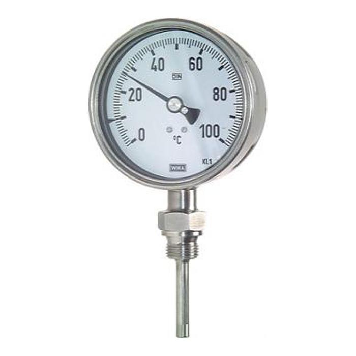 Bimetallthermometer Klasse 1,0 - Durchmesser 100 mm - senkrecht ohne Schutzrohr
