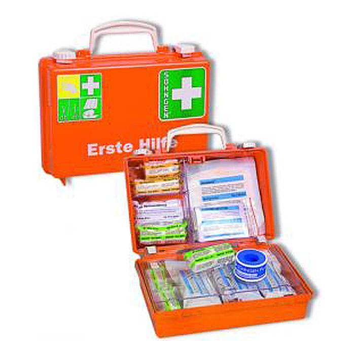 """Kit """"Førstehjælp QUICK-CD"""" - fyldt - DIN EN 1789 - Plastic"""