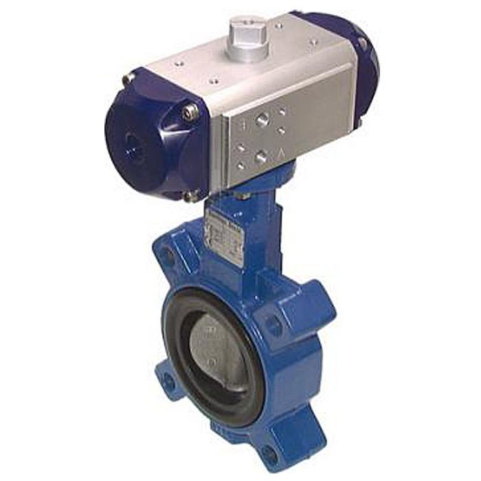 Pneumatic Driven Butterfly Valves - Double Acting - Flange On - Grey Cast Iron W