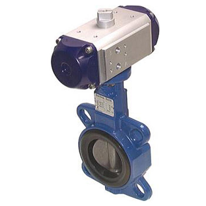 Pneumatic Driven Butterfly Valves - Double Acting - Intermediate Flange - Sphero
