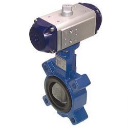 Absperrklappe - PN 16 - pneumatischer Antrieb - Feder-schließend - Anflansch - S