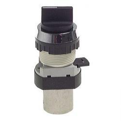 3/2-Wege-Tasterventil M5 für Schalttafeleinbau Ø 30,5 mm - Knebelgriff - 15 N