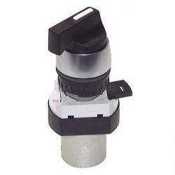 3/2-Wege-Tasterventil M5 für Schalttafeleinbau Ø22,5 mm - Knebelgriff - 26 N