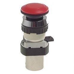 3/2-Wege-Tasterventil M5 für Schalttafeleinbau Ø 30,5 mm - Not-Aus-Taste - 31 N