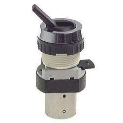3/2-Wege-Tasterventil M5 für Schalttafeleinbau Ø 30,5 mm - Kippschalter - 9 N