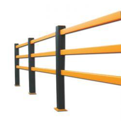 Barriera di protezione flessibile - con 3 barre - 1400 x 75 mm