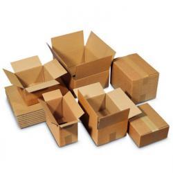 Kartonger - korrugerad - kapacitet upp till 20 kg - olika storlekar