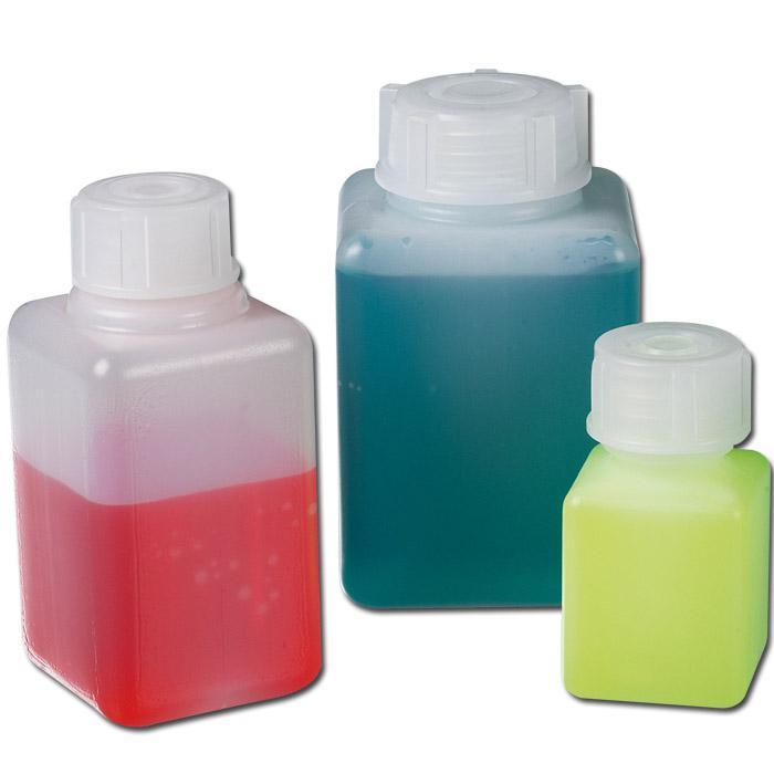 Vierkantflasche - Grundriss quadratisch - Enghals - 20-100 ml