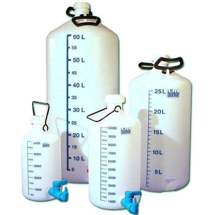 Flaskor - med/utan gängad anslutning - 10-60 l
