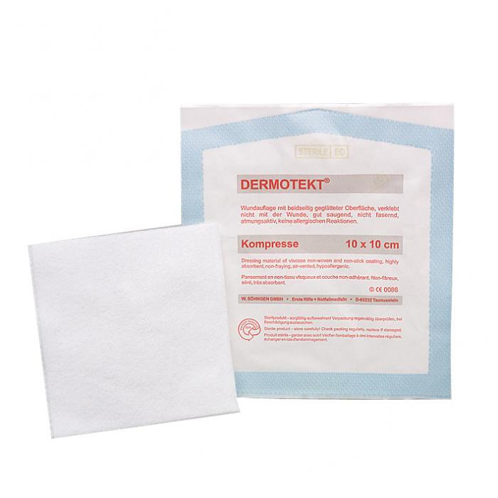 DERMOTEKT® PES - komprimere - DIN 13 152