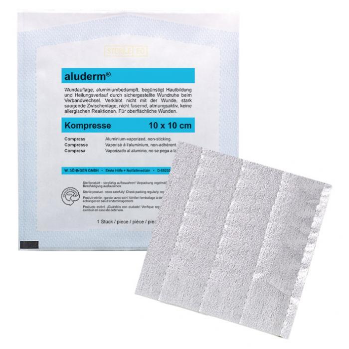 aluderm® Kompresse - Polyestervlies - versch. Größen