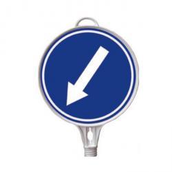 """Schild - Richtung """"links"""" - zum Aufschrauben"""