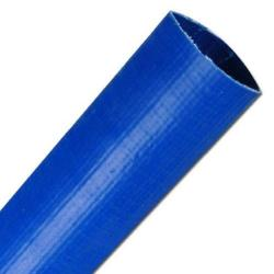 "Flatrullad slang - PVC - blå - inner-Ø 1 1/4""- 8"""