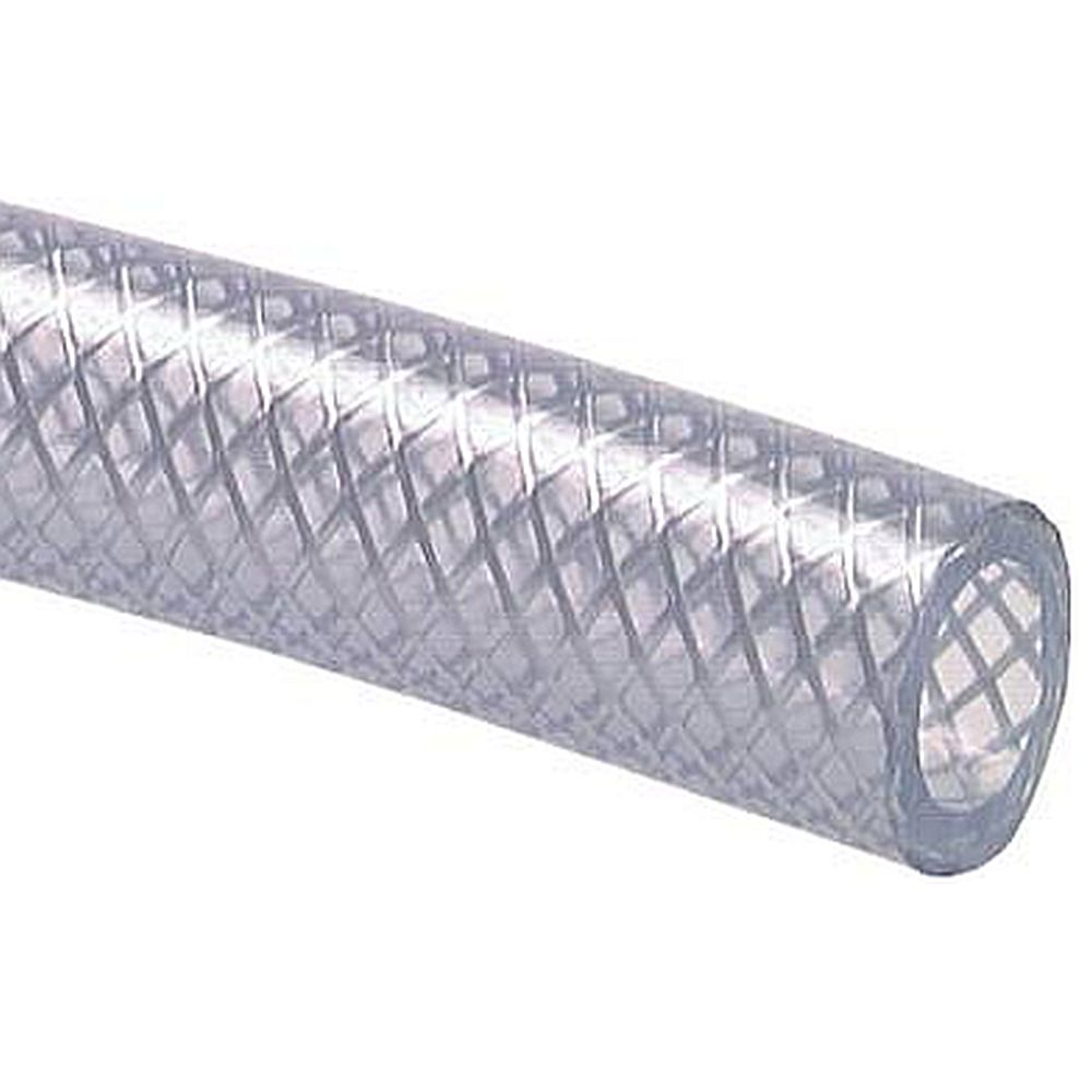 PVC vävarmerad slang - livsmedelskvalitet - Rullängd 10 m - Pris per rulle
