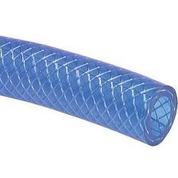 PVC-Gewebeschlauch - blau - Innen-Ø 9 -  Außen-Ø 15 - Preis per Rolle