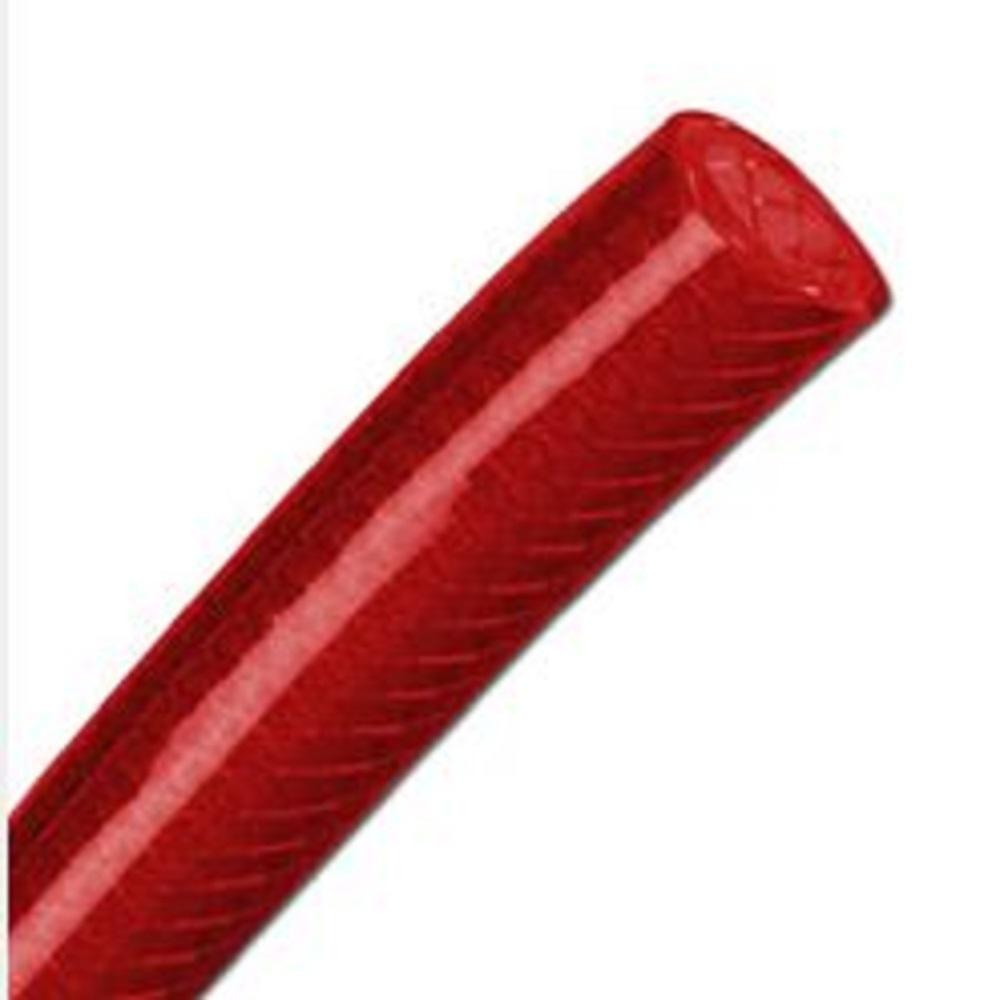 PVC-slang - vävarmerad - till 60 bar - Ø 6-19 mm - rödtransparent
