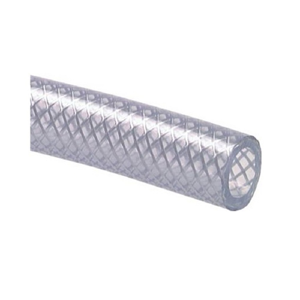 Vävarmerad PVC-slang - livsmedelsgodkänd - transparent