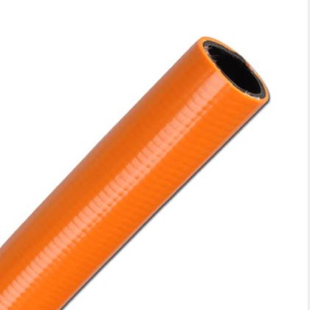 PVC-Wasserschlauch mit Gewebeeinlage - Innen-Ø 13 bis 18,2 mm - orange - abriebfest - Preis per Meter und Rolle