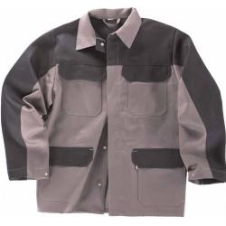 Welders jacket from proban, 100% CO gray / black, heat