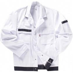 "Collar jacket ""beb"" white / navy painter snap closure"