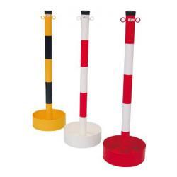 Łańcuch po - stal - z oczkami - 1000mm - czerwony / biały / czarny - z spawane