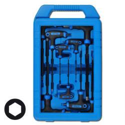 T-Griff-Schlüsselsatz für Innen-Sechskant-Schrauben - 9-teilig