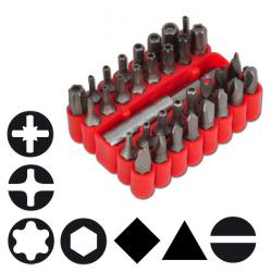 """Spezial Bit-Set - kurz - 32-teilig - 1/4"""" - 35 mm - Chrom-Vanadium-Stahl"""
