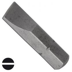 """Bit Schlitz - 1/4"""" - 25 mm - Chrom-Vanadium-Stahl - Schlitzbreite 7 mm"""