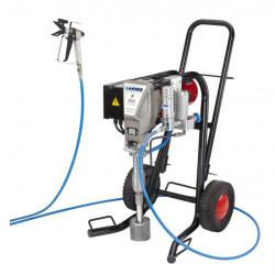 Färgsprutsystem - elektriskt - körvagn - 4 l/min