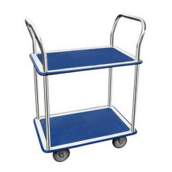 JPC transport trolley - with 2 shelves - (W) 730 x (L) 470 mm