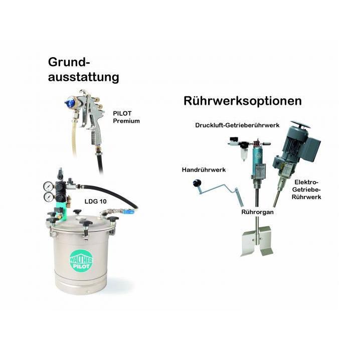 Spritzsystem - Materialdruckbehälter - Leichtbauweise 10 L - Edelstahl