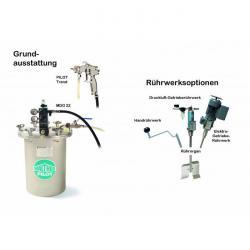 Sprutsystem - med materialtrycktank 22 l – förzinkat stål